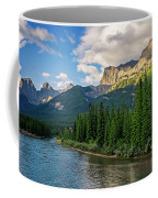 Bow River And Three Sisters Canmore Coffee Mug
