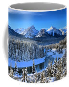 Bow River Parkway Blue Skies Coffee Mug