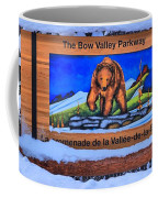 Bow Valley Parkway Snowy Entrance Coffee Mug