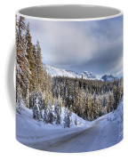 Bow Valley Parkway Winter Scenic Coffee Mug