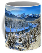 Bow Valley Winter View Coffee Mug