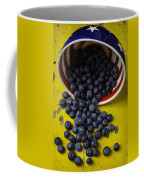 Bowl Pouring Out Blueberries Coffee Mug