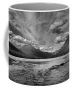 Bowman Lake Black And White Panoramic Coffee Mug