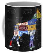 Boxer Dog Pet Owner Love Vintage Recycled License Plate Artwork Coffee Mug