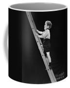 Boy Climbing Tall Ladder, C.1930s Coffee Mug