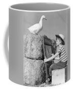 Boy Drawing Duck, C.1950s Coffee Mug