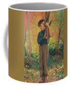 Boy Holding Logs Coffee Mug by Winslow Homer