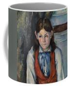 Boy In A Red Vest Coffee Mug