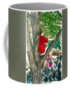 Boy In A Tree Coffee Mug