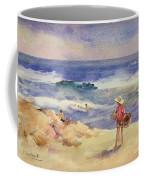 Boy On The Sand Coffee Mug