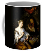 Boy Playing A Flute To A Young Woman Coffee Mug