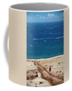 Boy Runs Toward Ocean Coffee Mug