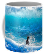 Boy And Wave   Kekaha Beach Coffee Mug