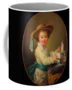 Boy With A House Of Cards                                   Coffee Mug