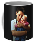 Boy With Bald-headed Baby Coffee Mug
