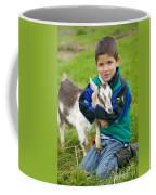 Boy With Goat Coffee Mug
