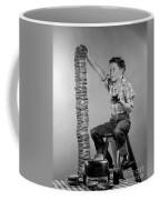 Boy With Huge Stack Of Toast, C.1950s Coffee Mug