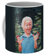 Boy With Raspberries Coffee Mug