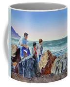Boys And The Ocean Coffee Mug