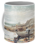 Boys On The Beach Coffee Mug by Winslow Homer
