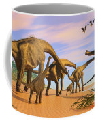 Brachiosaurus Beach Coffee Mug