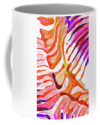 Brain Coral Abstract 6 In Orange Coffee Mug