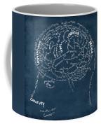 Brain Drawing On Chalkboard Coffee Mug by Setsiri Silapasuwanchai