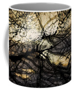 Branches Illuminated By Bright Sunshine, Double Exposed Image Coffee Mug by Nick Biemans
