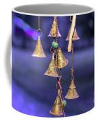 Brass Bells Hanging In The Illuminated Courtyard At Winter Night Coffee Mug