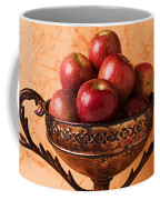 Brass Bowl With Fuji Apples Coffee Mug