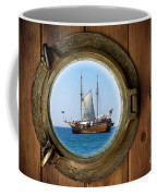 Brass Porthole Coffee Mug by Carlos Caetano