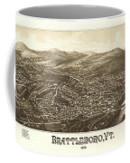 Antique Brattleboro Vt Coffee Mug For Sale By Burleigh Litho