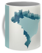 Brazil Simple Intrusion Map 3d Render Coffee Mug