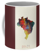 Brazil Watercolor Map Coffee Mug