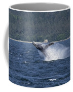 Breaching Whale Paint Coffee Mug