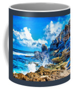 Breakers On The Rocks At Kenridgeview - On - Sea L A S Coffee Mug