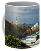 Breaking Waves At Yaquina Head Lighthouse Coffee Mug