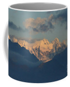 Breathtaking View Of The Italian Alps With A Cloudy Sky  Coffee Mug