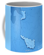 Bremen Bundesland Germany 3d Render Topographic Map Blue Border Coffee Mug