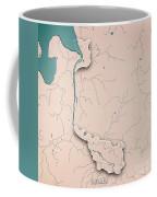 Bremen Bundesland Germany 3d Render Topographic Map Neutral Bord Coffee Mug
