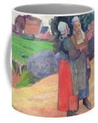 Breton Peasants Coffee Mug by Paul Gauguin