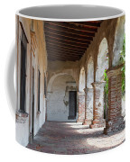 Brick And Stone Arches Line Walkway In Old Mission Ruin Coffee Mug
