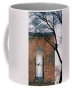Brick Building Window With Bird Coffee Mug