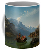 Bridal Procession On The Hardangerfjord Coffee Mug