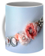 Bridal Sash Belt With Flowers And Rhinestones Coffee Mug