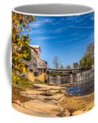 Bridge And Creek In The Fall Coffee Mug