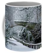 Bridge In Snow Coffee Mug