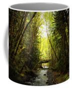 Bridge In The Rainforest Coffee Mug