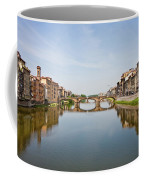 Bridge Over Arno River In Florence Italy Coffee Mug