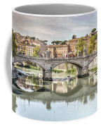 Bridge Over The River Tevere, Rome, Italy Coffee Mug